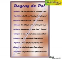 "Diploma ""Regras do Pai"""